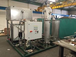 Biogas upgrading pilot plant