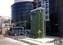 Biogas H2S Dry Media Scrubber